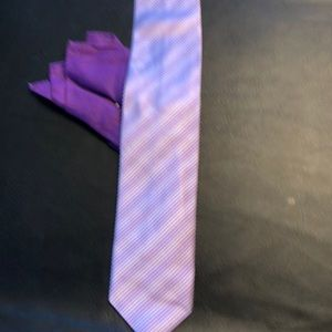 Men's neck tie and square
